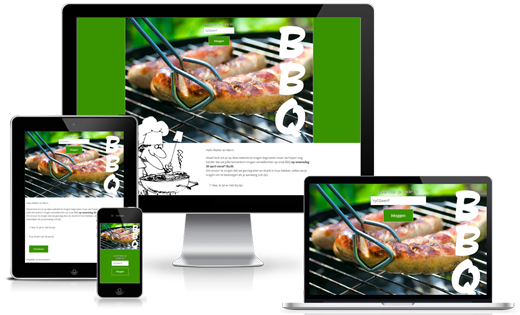 Happit webdesign : project Uitnodiging BBQ