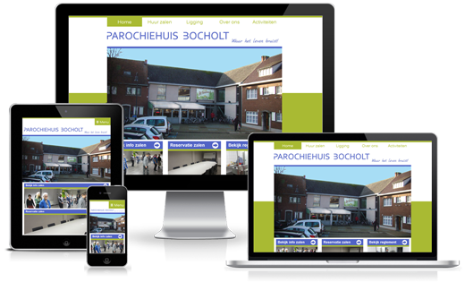 Happit webdesign : project Parochiehuis Bocholt