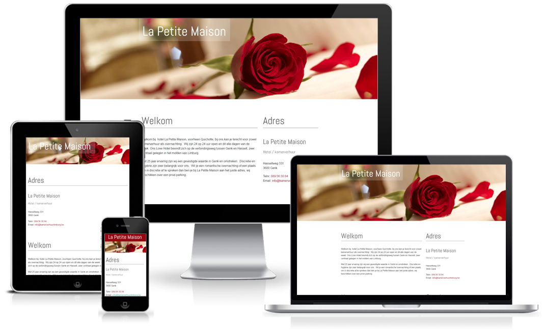 Happit webdesign : project La petite maison