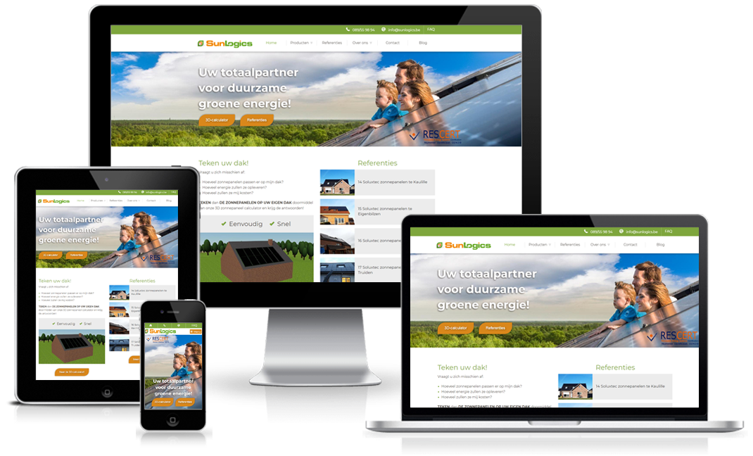 Happit webdesign: project Sunlogics