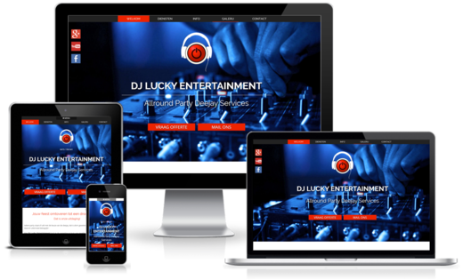 Happit webdesign : project DJ Lucky